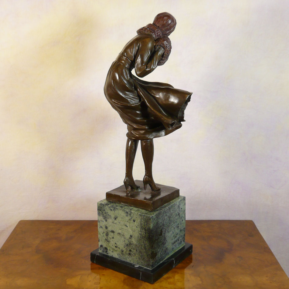 women 39 s bronze bronze sculpture art deco statues. Black Bedroom Furniture Sets. Home Design Ideas