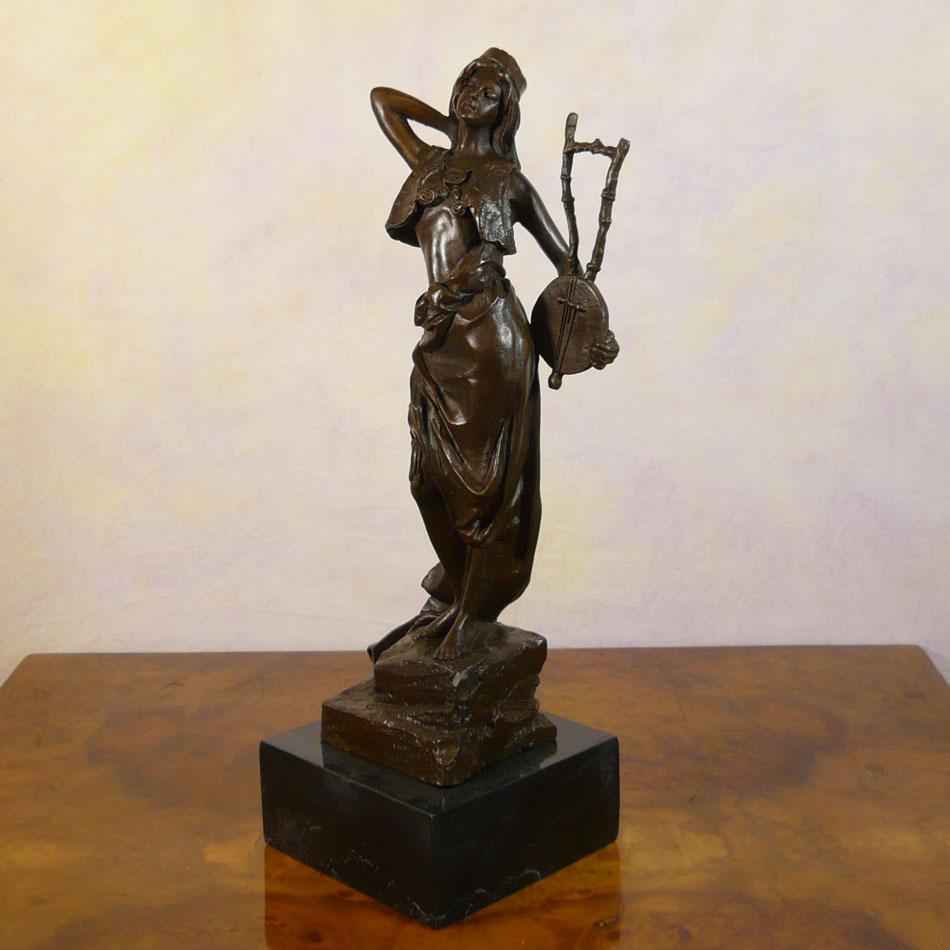 Greek Goddess Terpsichore Bronze Statue Sculptures