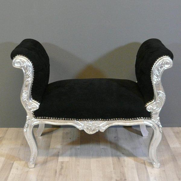Banquette baroque noire chaise baroque pouf baroque - Banquette style baroque ...