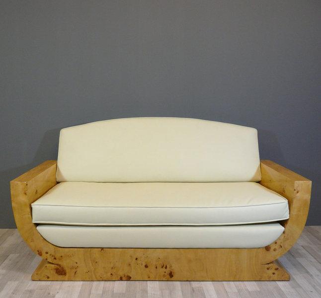 canap art d co en loupe d 39 orme meubles art d co. Black Bedroom Furniture Sets. Home Design Ideas