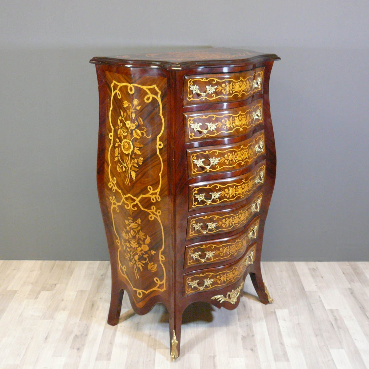 Semainier louis xv commode louis xv bureau louis xv for Meuble style louis 15