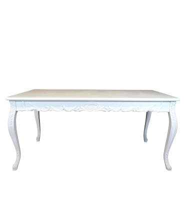 Table baroque blanche
