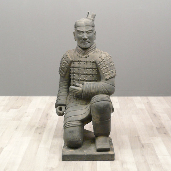 Chinese Warrior Statue Archer 100 Cm Xian Soldiers