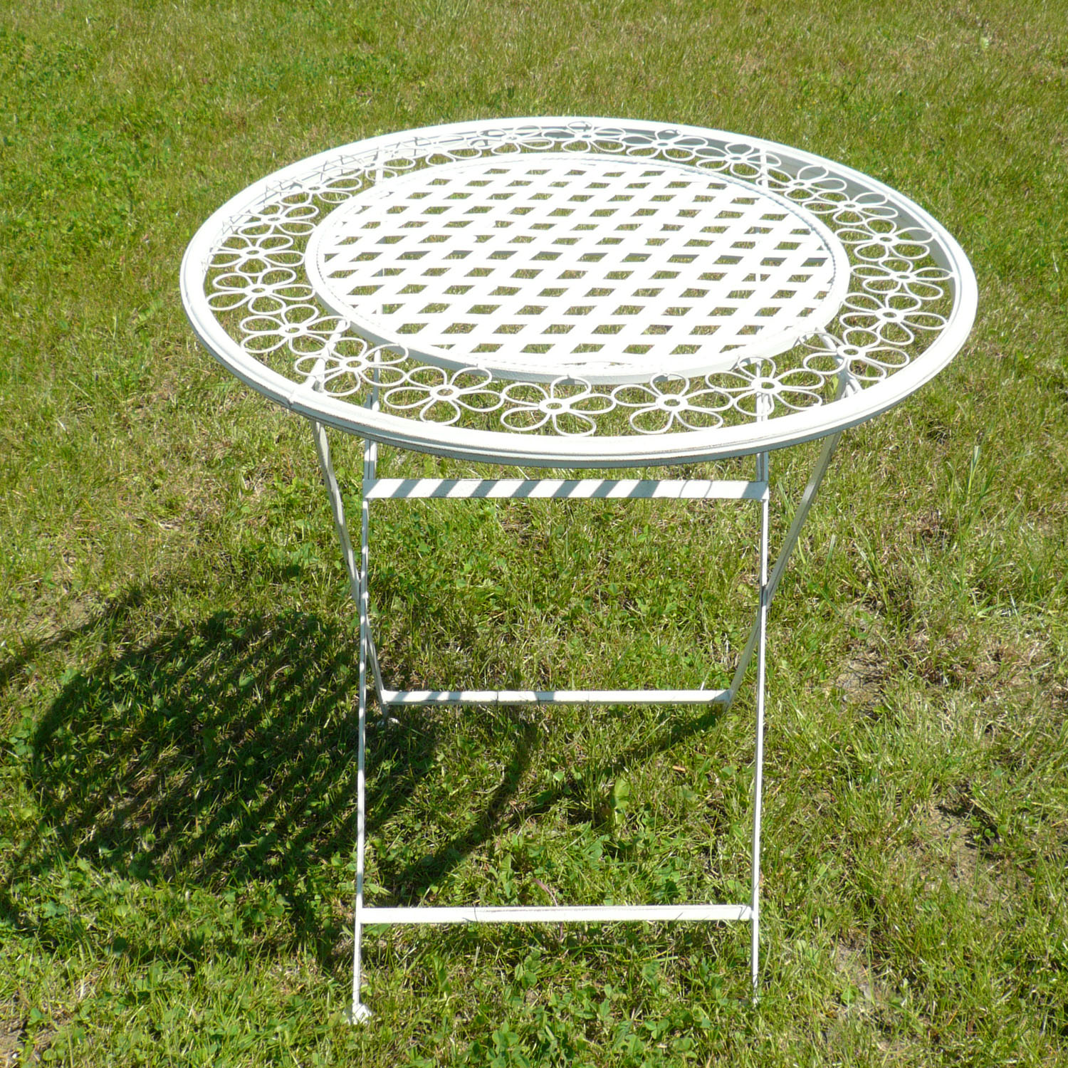 Table jardin fer - Table en fer forge exterieur ...