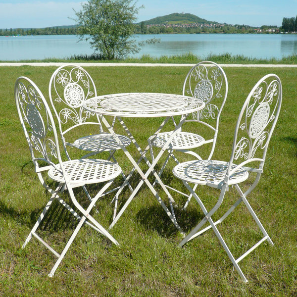 Salon de jardin en fer forg tables chaises bancs - Salon de jardin ancien en fer forge ...
