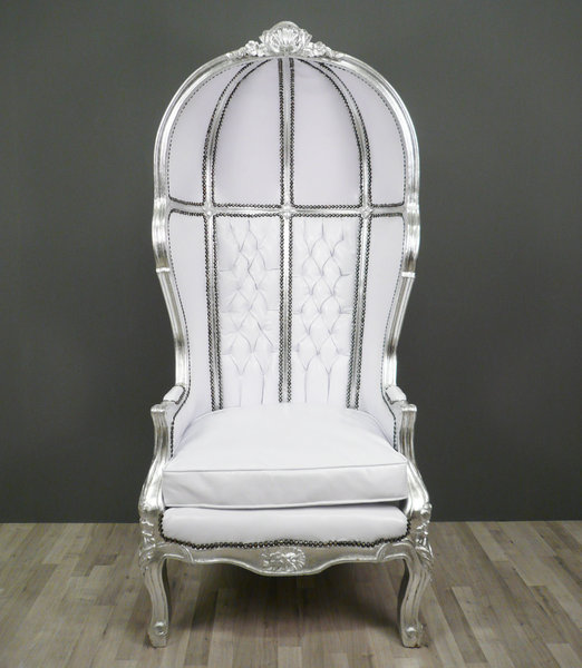 fauteuil baroque carrosse blanc meuble baroque. Black Bedroom Furniture Sets. Home Design Ideas