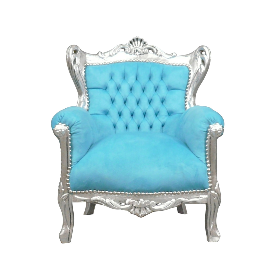 fauteuil enfant baroque bleu fauteuils chaises. Black Bedroom Furniture Sets. Home Design Ideas