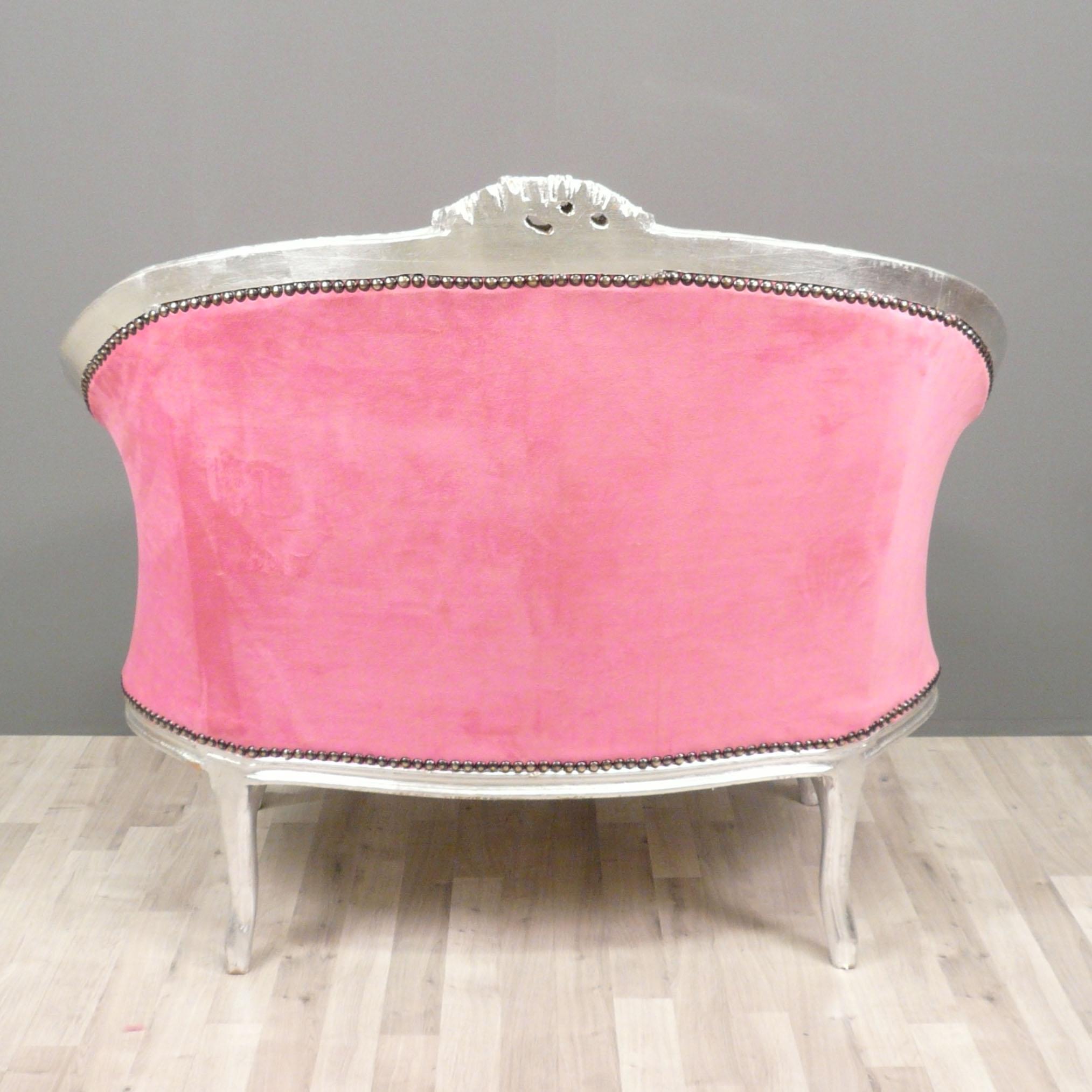 Canap baroque rose fauteuils baroques chaises for Chaise pour chambre adulte