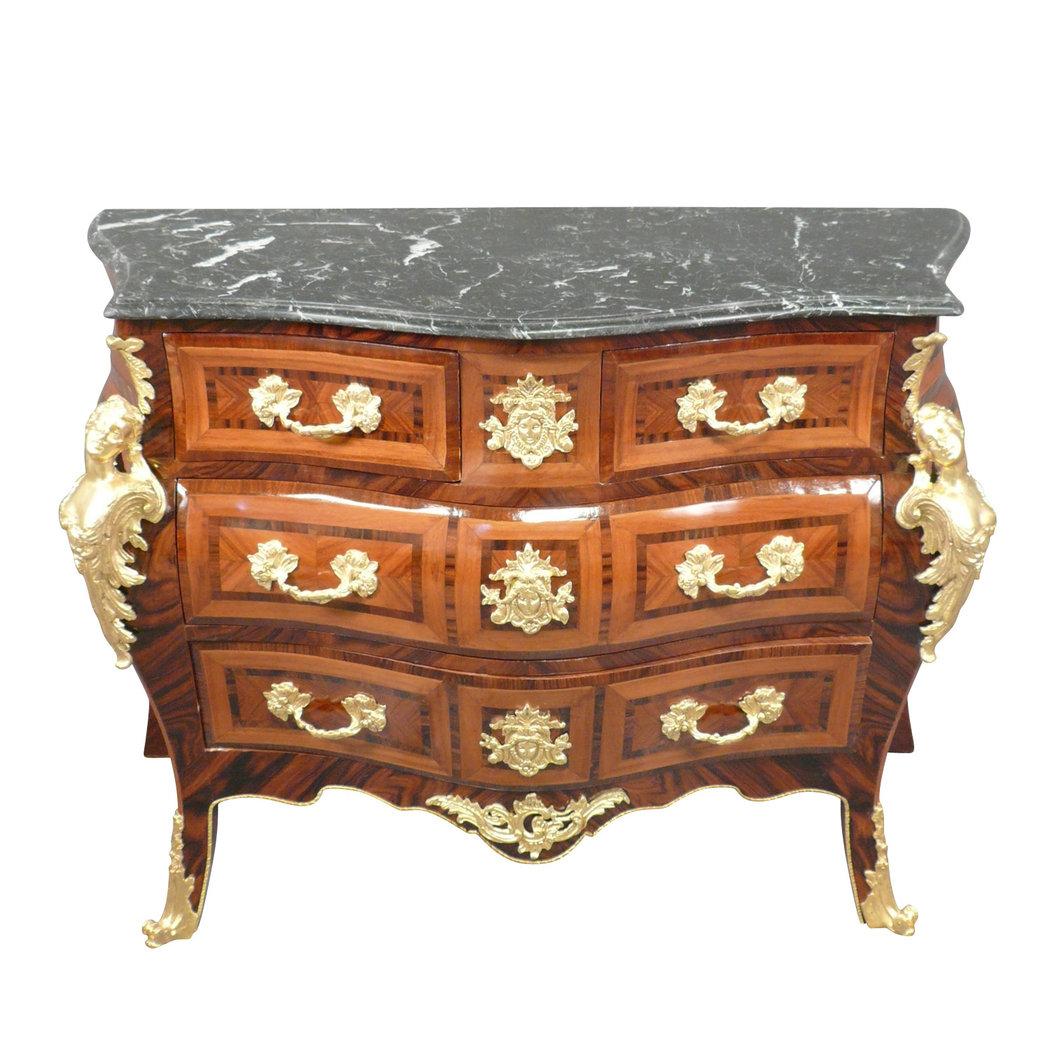 commode louis xv copies de meubles de style. Black Bedroom Furniture Sets. Home Design Ideas