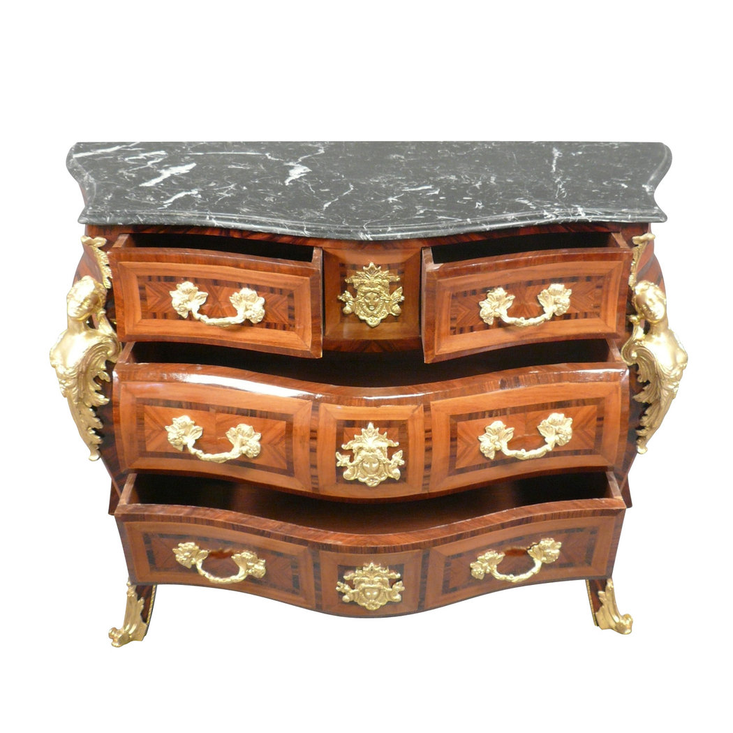 commode louis xv copies de meubles de style. Black Bedroom Furniture Sets. Home Design Ideas