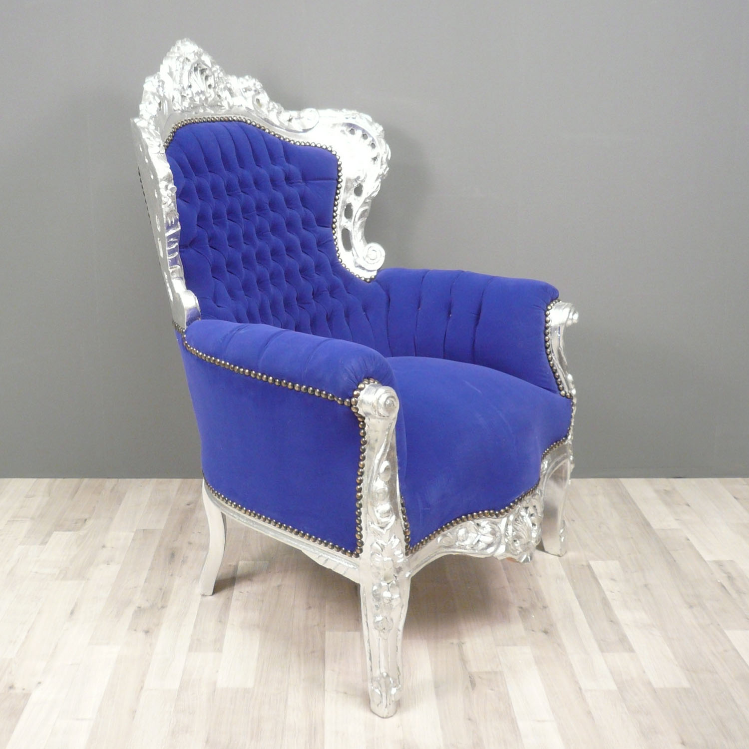 fauteuil baroque bleu fauteuils baroques. Black Bedroom Furniture Sets. Home Design Ideas