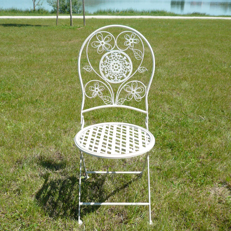 Paire de chaises en fer forg pour salon de jardin tables bancs - Chaises de jardin en fer forge ...