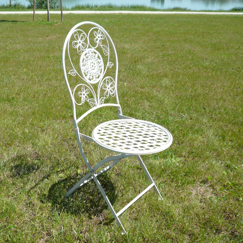 Paire de chaises en fer forg pour salon de jardin tables bancs - Chaise de jardin fer forge ...