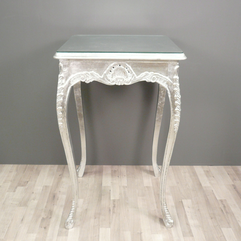 Baroque bar table silver chair chair - Table baroque blanche ...