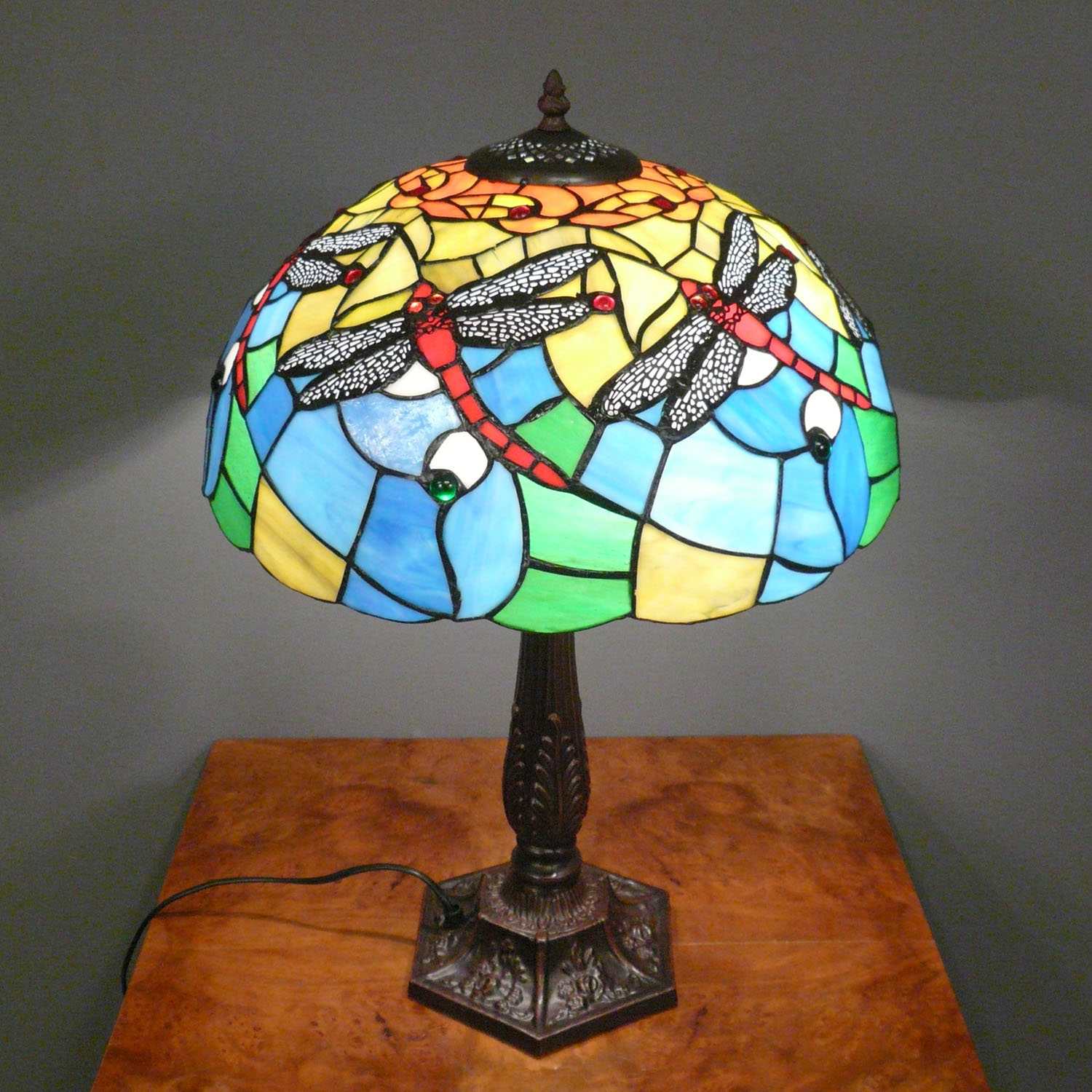 Tiffany Lamp Dragonfly Lamps Floor Chandelier