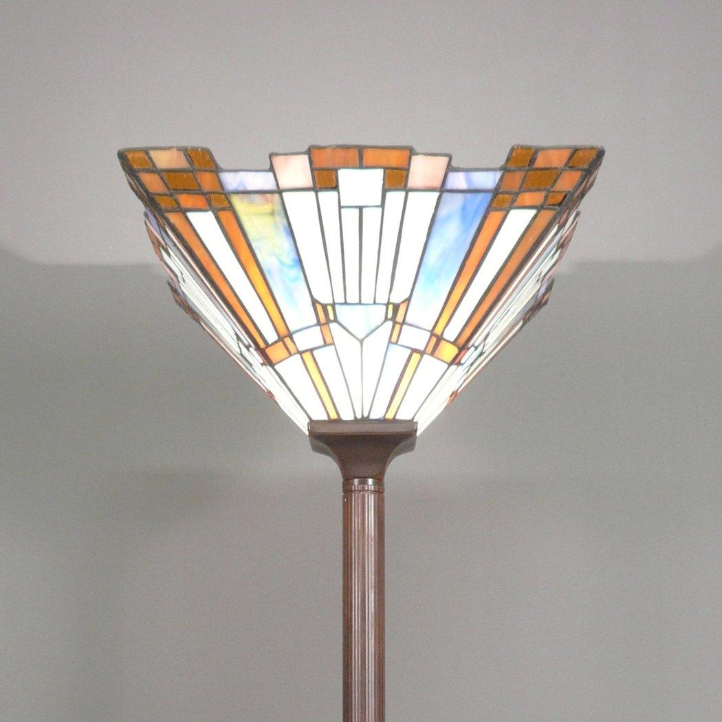 Lampada Tiffany da terra art deco Appliques