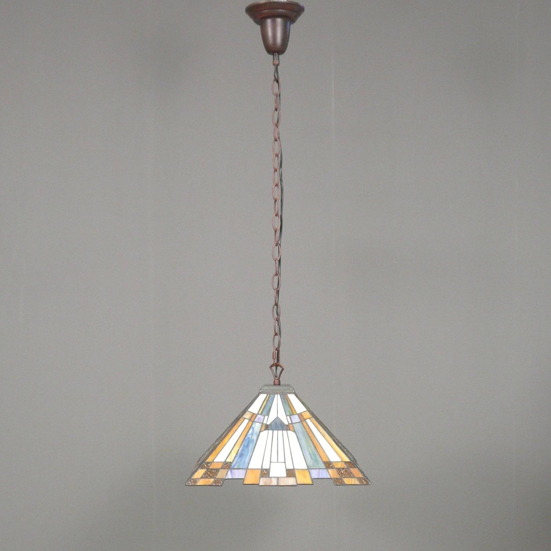 lampadario art deco : Lampadario Tiffany art deco con un diametro di 41 cm.