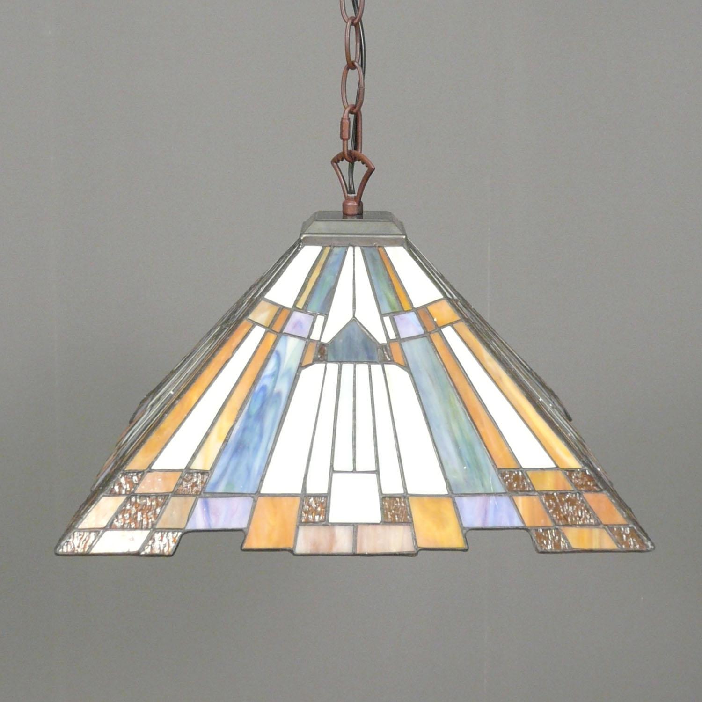 lampadari art deco : Lampadario Tiffany art deco con un diametro di 41 cm.