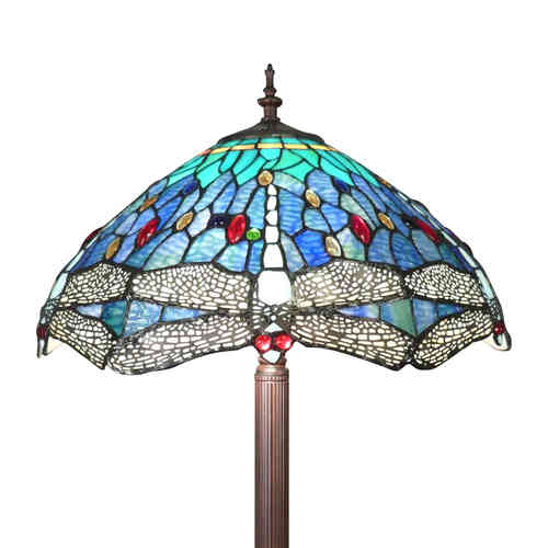 Lampadaire Tiffany Mississippi aux libellules