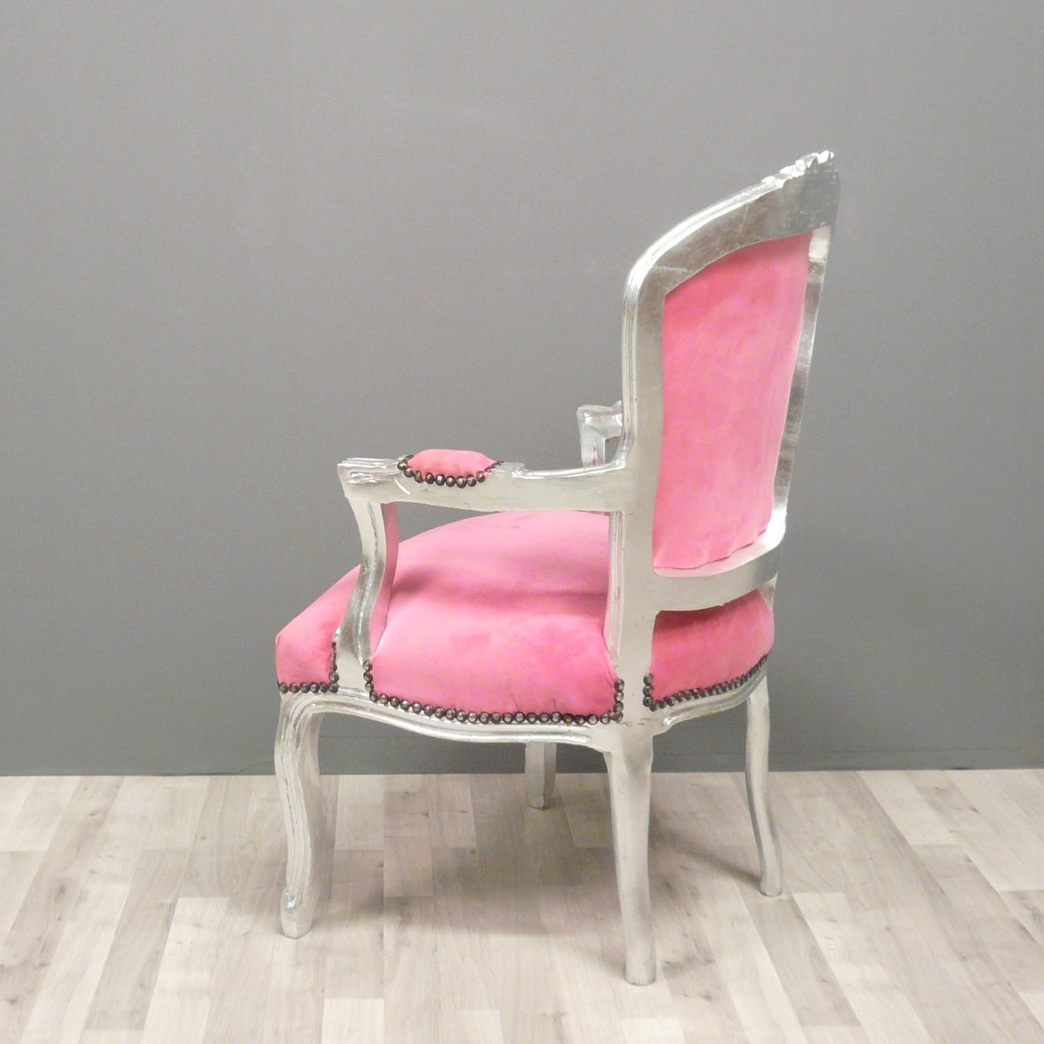 Chaise Baroque Rose Et Blanche