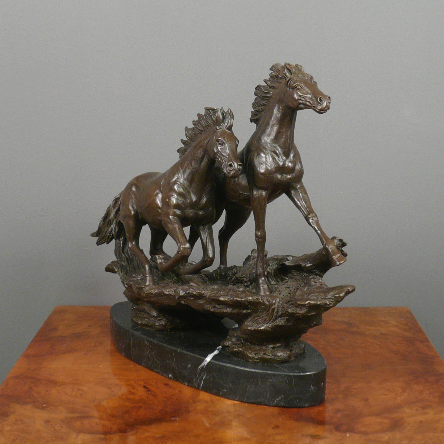 Running Horses Bronze Sculpture Statues