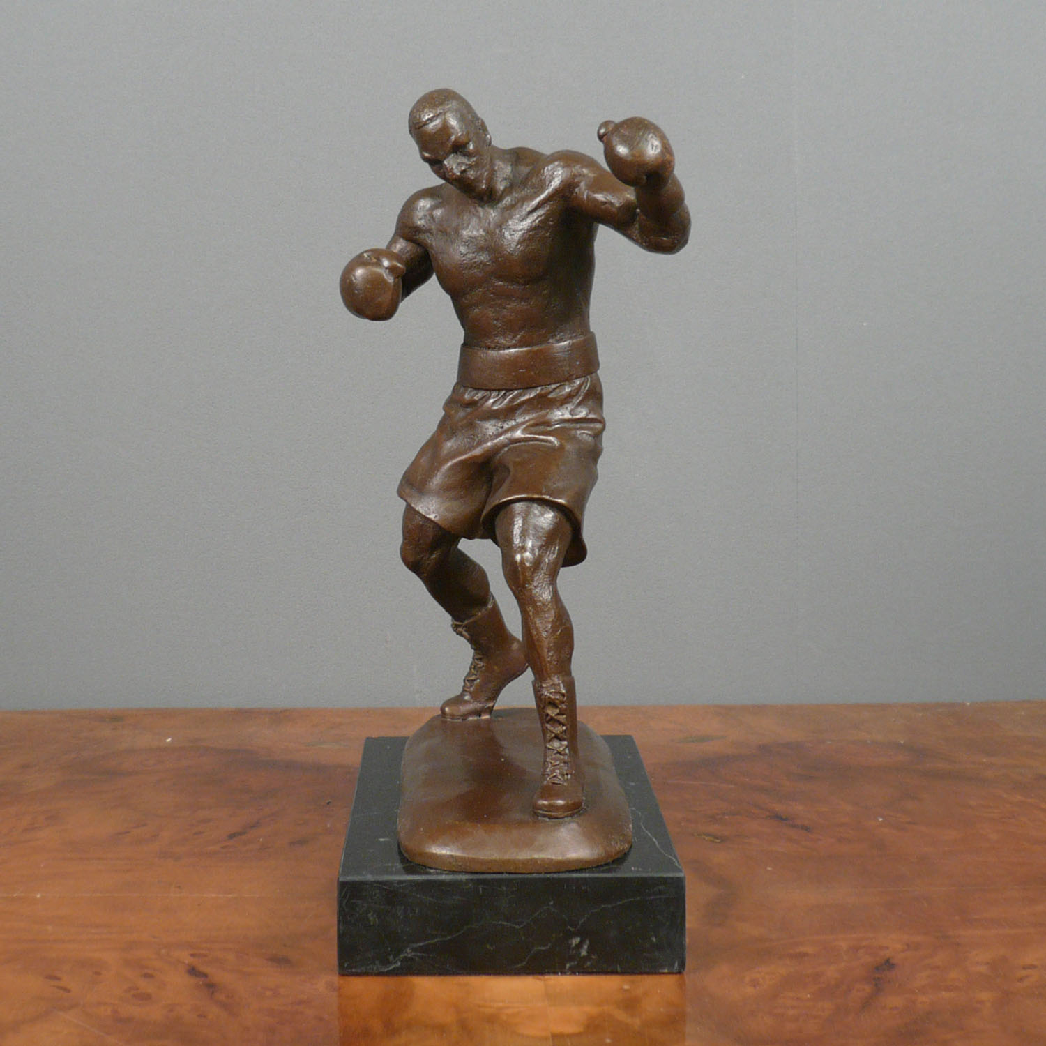 Boxer Bronze Sculpture Statues