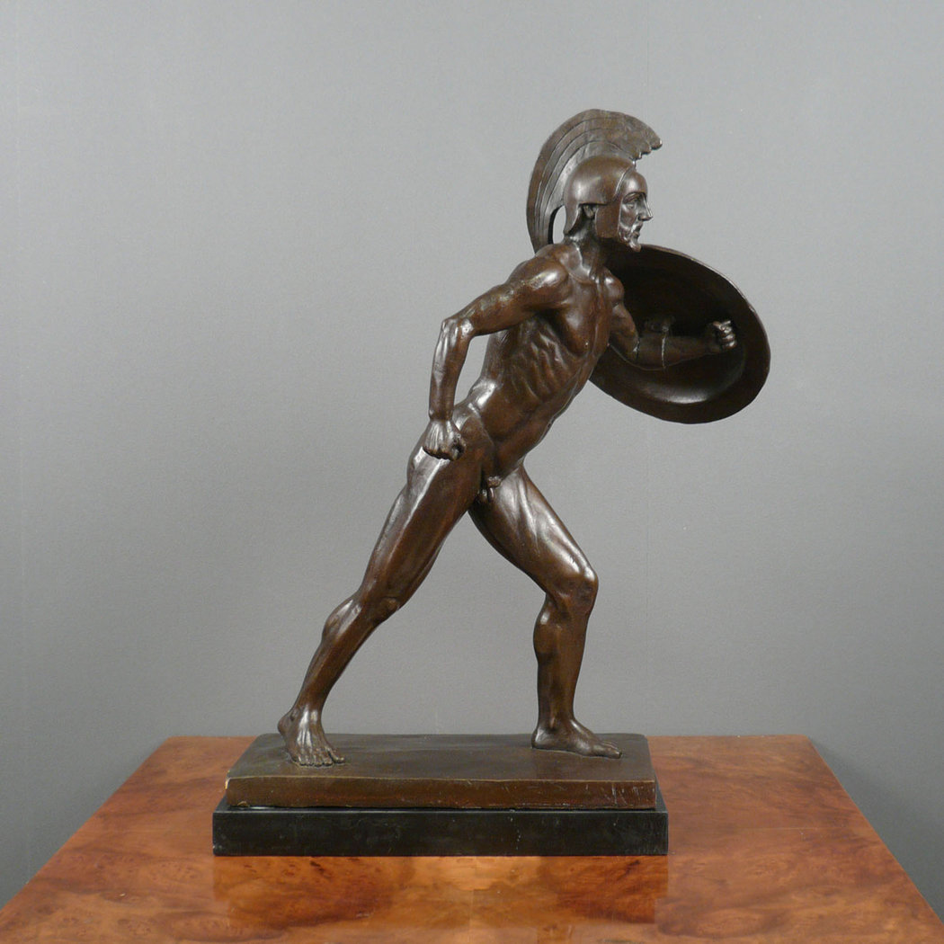 The Roman Gladiator Bronze Statue Sculptures