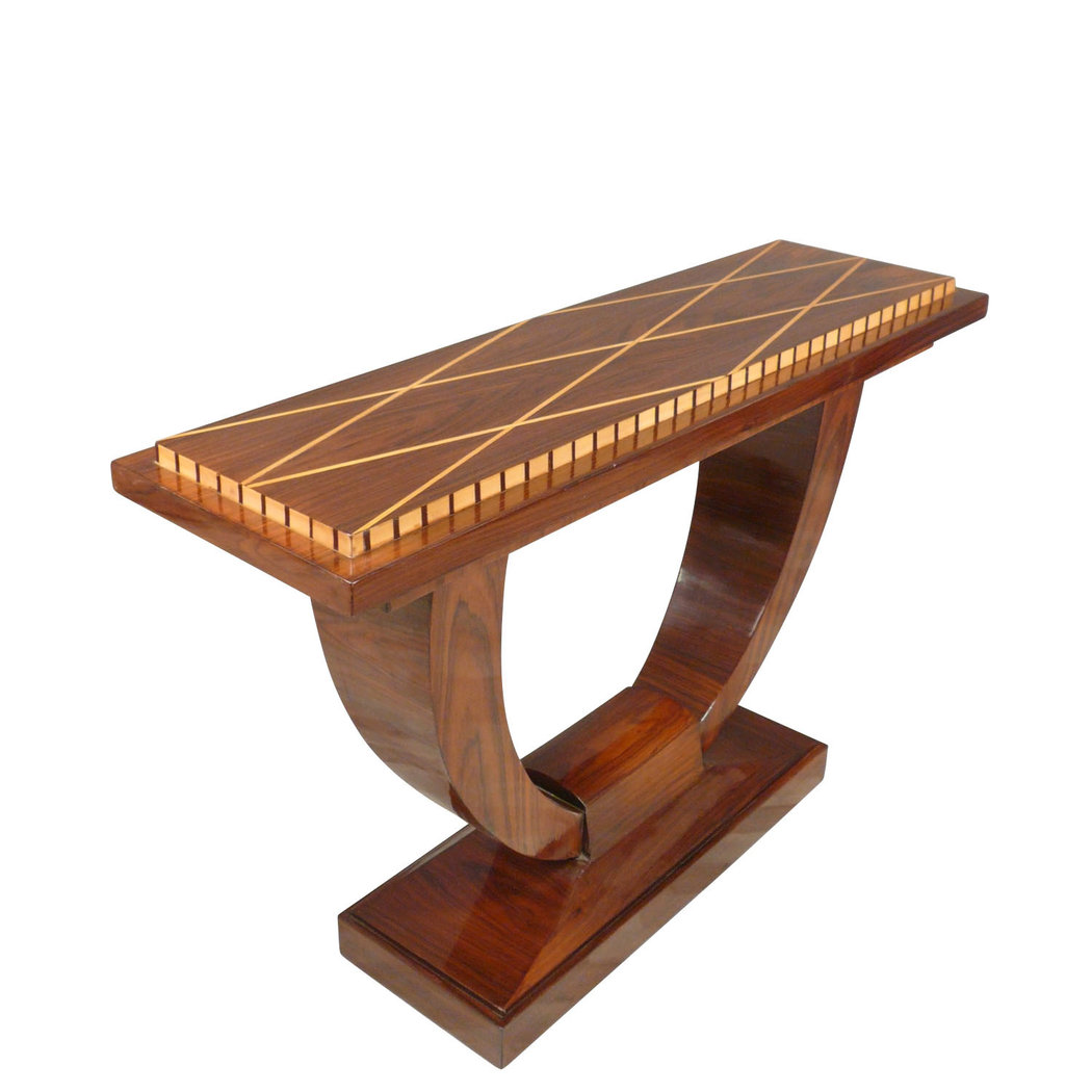 Console art d co meuble art deco en bois de palissandre for Le bon coin art de la table