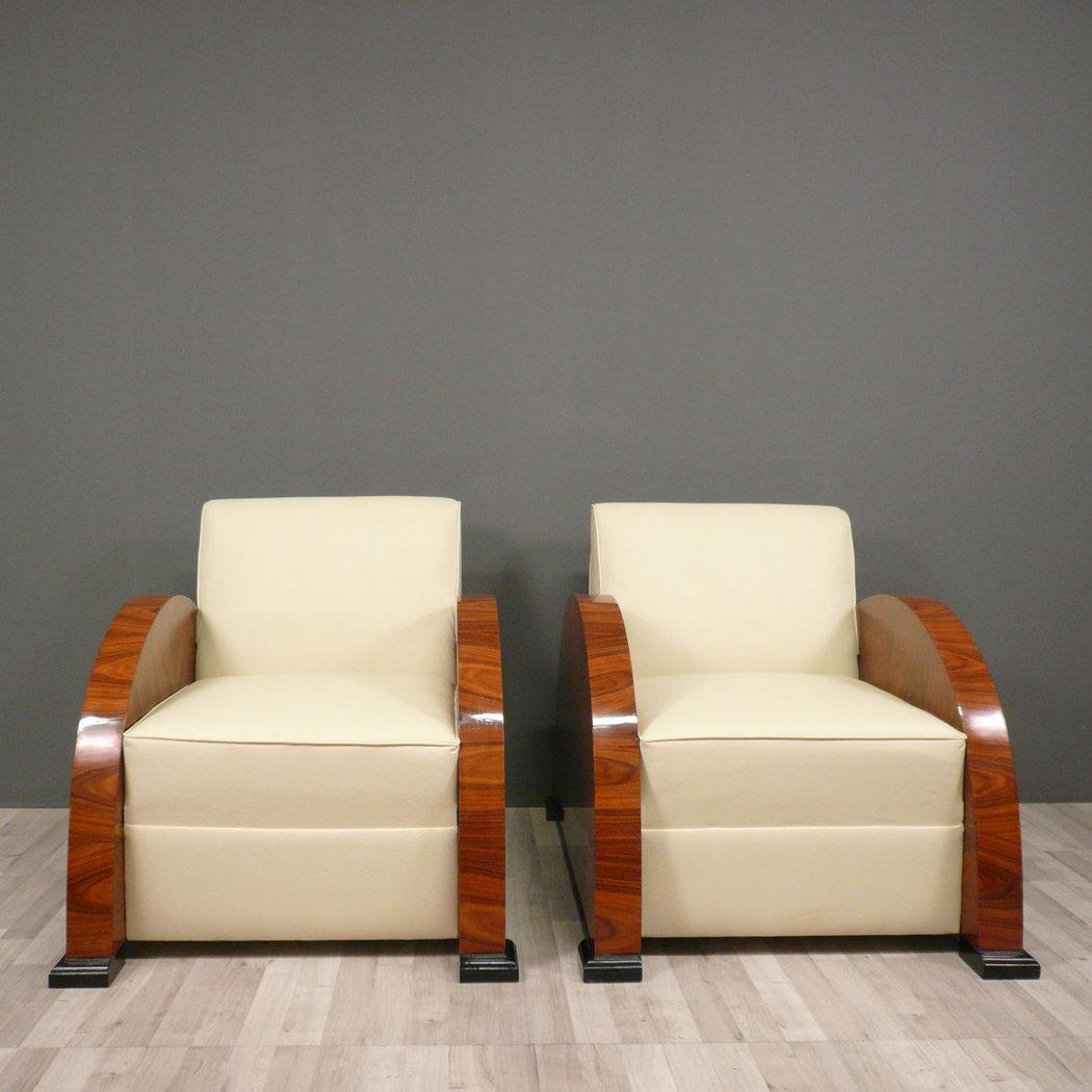 paire de fauteuils club art d co meubles art d co. Black Bedroom Furniture Sets. Home Design Ideas
