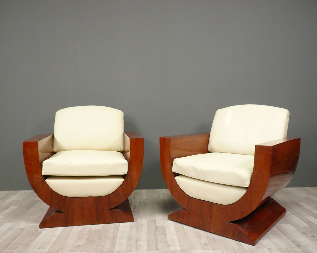 Pair of armchairs art deco art deco furniture for Art deco living room chairs
