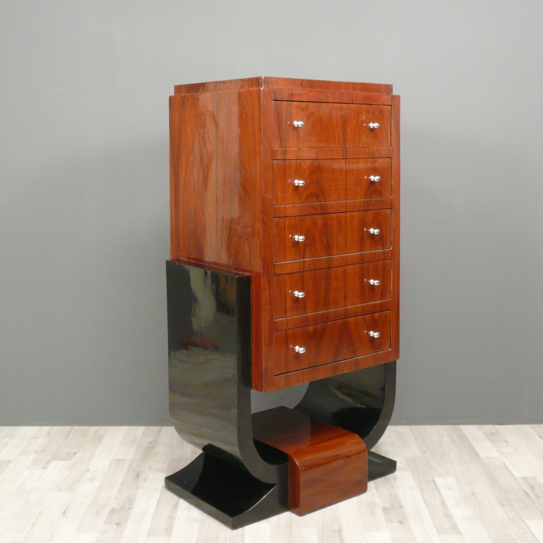 commode art d co en palissandre 5 tiroirs meubles art d co. Black Bedroom Furniture Sets. Home Design Ideas