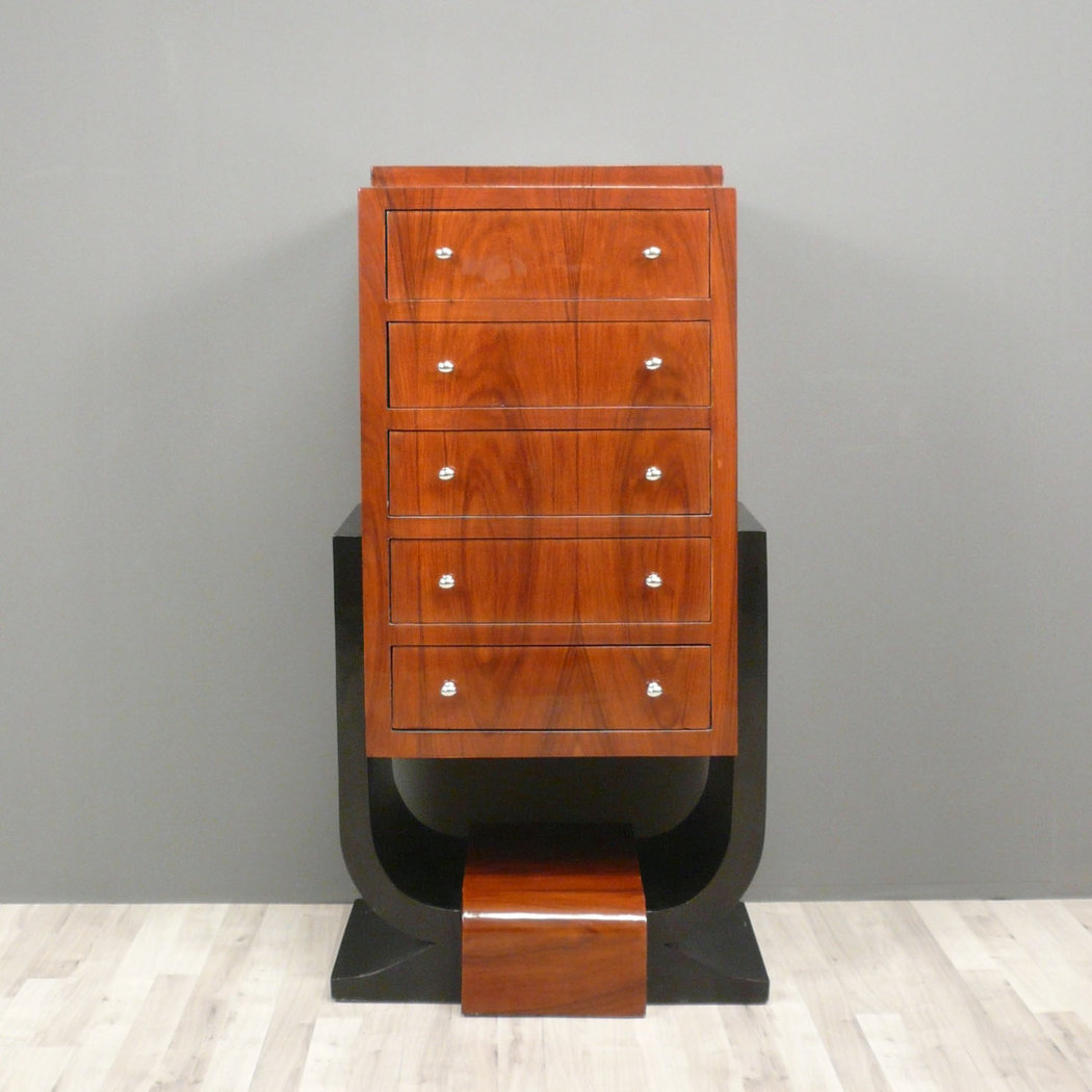Art deco rosewood commode furniture art deco for Commode miroir art deco