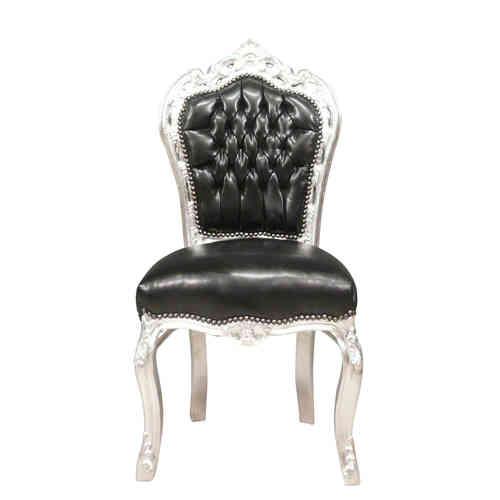 Chaise baroque de salle manger meuble baroque pas cher for Chaise simili cuir blanche