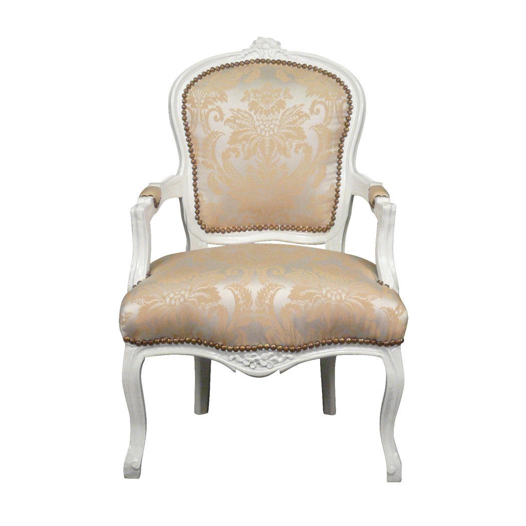 Poltrona luigi xv sedie barocco - Fauteuil beige pas cher ...