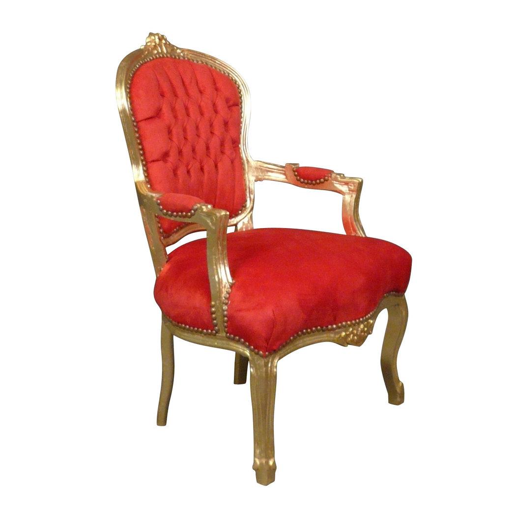 fauteuil baroque louis xv rouge mobilier art d co. Black Bedroom Furniture Sets. Home Design Ideas