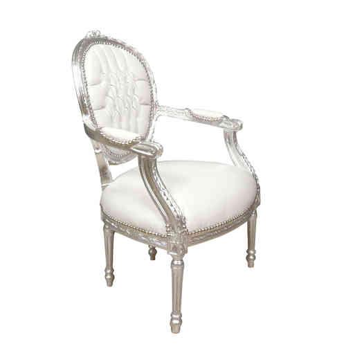 Fauteuil louis xvi achetez des fauteuils louis xvi pas cher - Fauteuil blanc capitonne ...