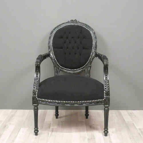 Fauteuils louis xvi m daillons et berg res - Chaise baroque avec accoudoir ...