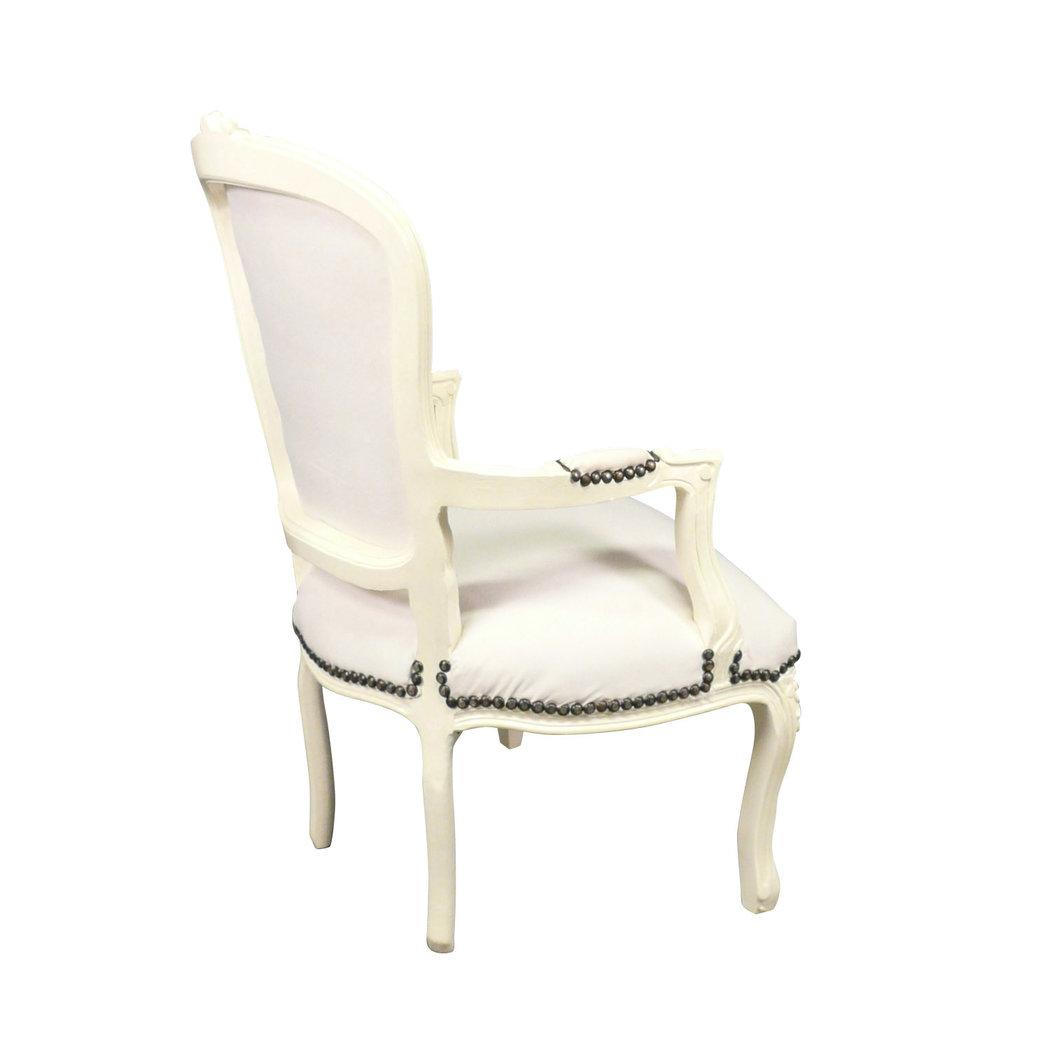 fauteuil louis xv en lin meubles de style. Black Bedroom Furniture Sets. Home Design Ideas