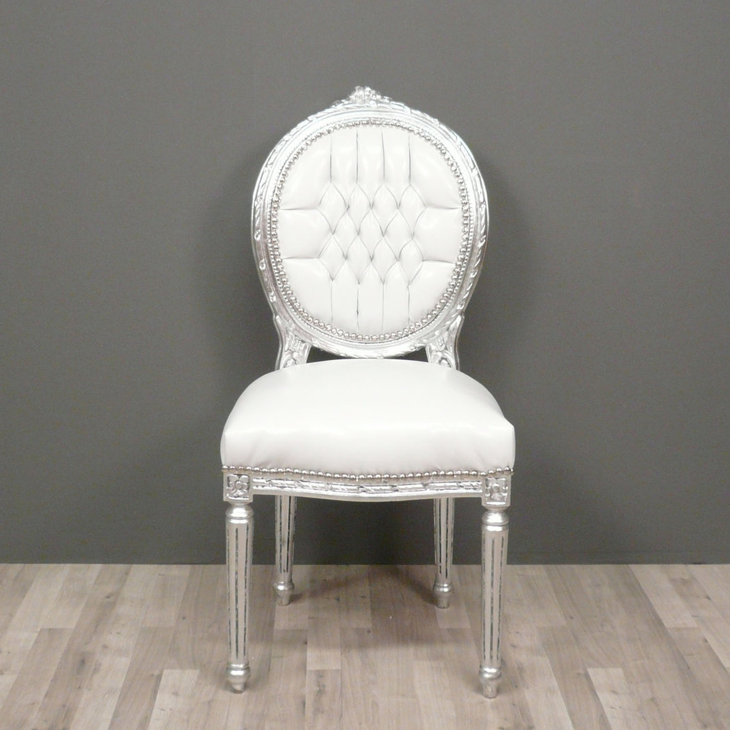 Chaise louis xvi chaise baroque meuble baroque for Chaise blanche