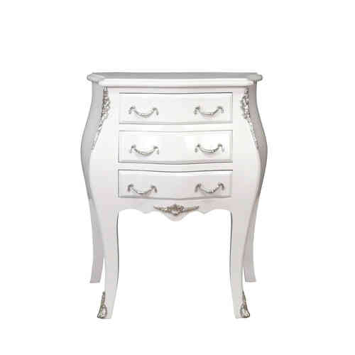 Commode baroque blanche
