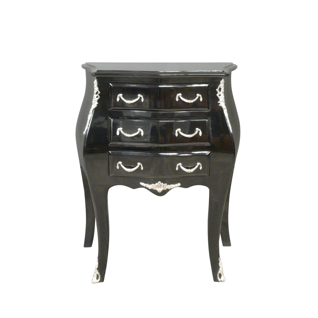 petite commode baroque noire de style louis xv mobilier baroque. Black Bedroom Furniture Sets. Home Design Ideas