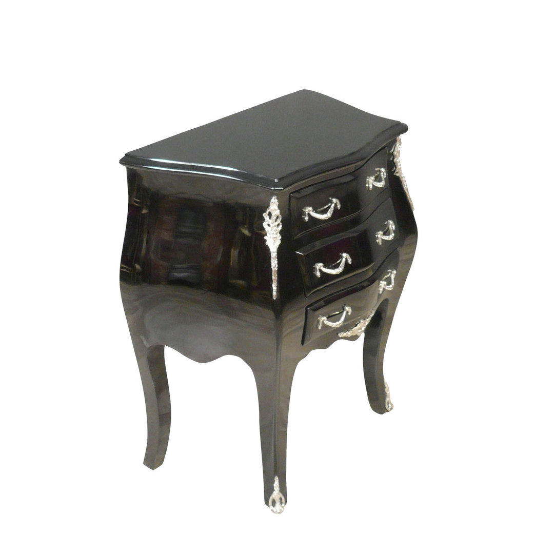 petite commode baroque noire de style louis xv mobilier. Black Bedroom Furniture Sets. Home Design Ideas