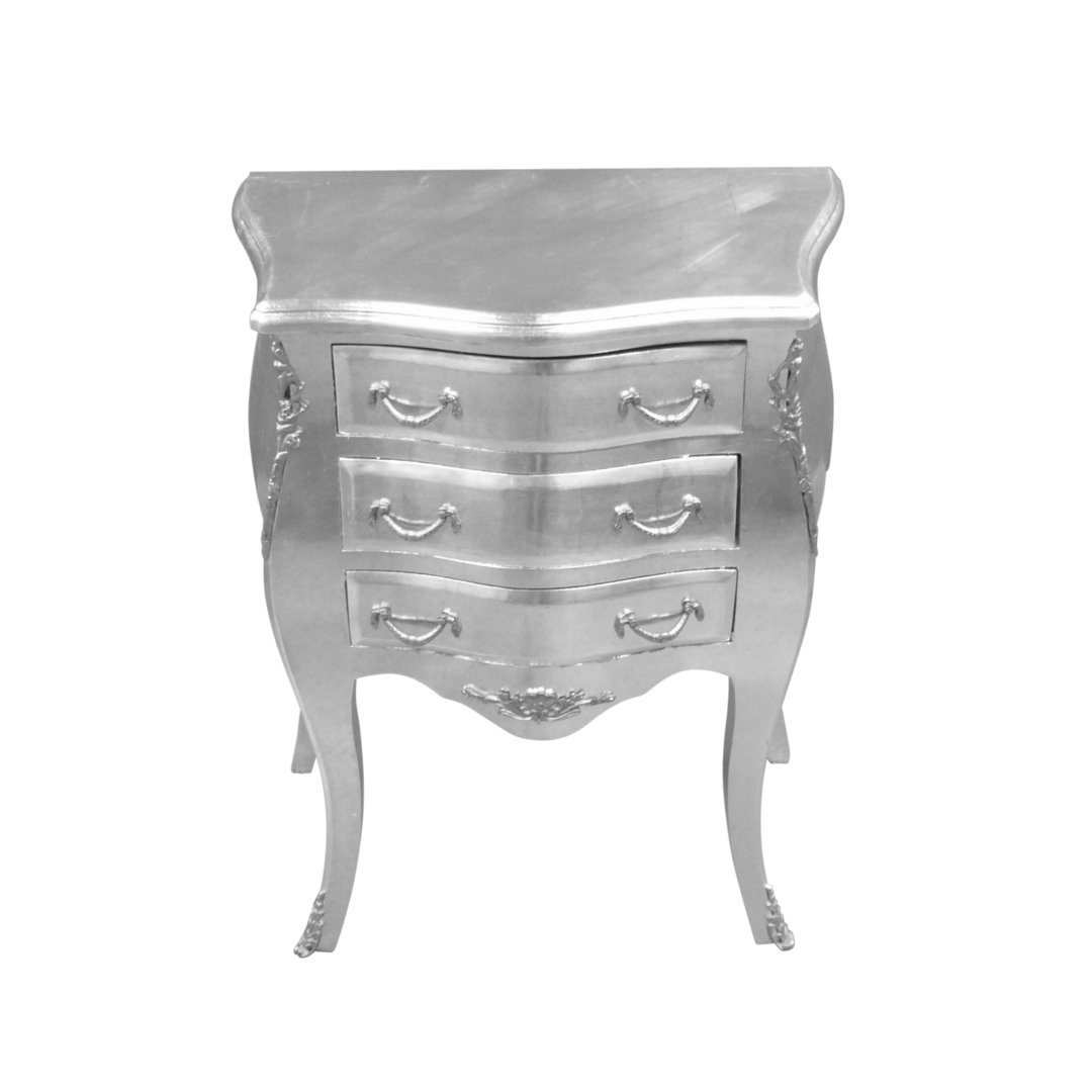 petite commode baroque argent style louis xv meuble baroque. Black Bedroom Furniture Sets. Home Design Ideas