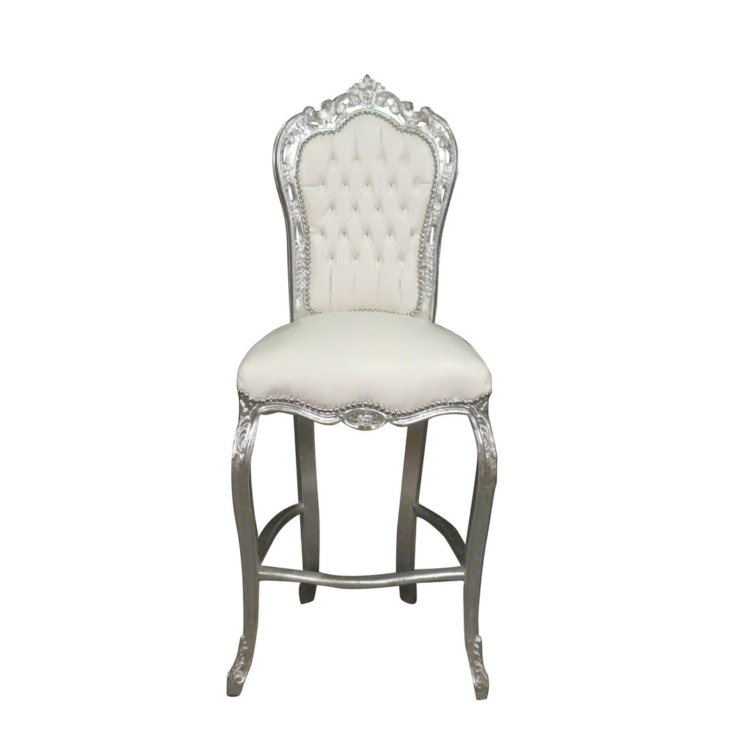 Bar chair baroque style of louis xv baroque chairs - Chaise baroque argentee ...
