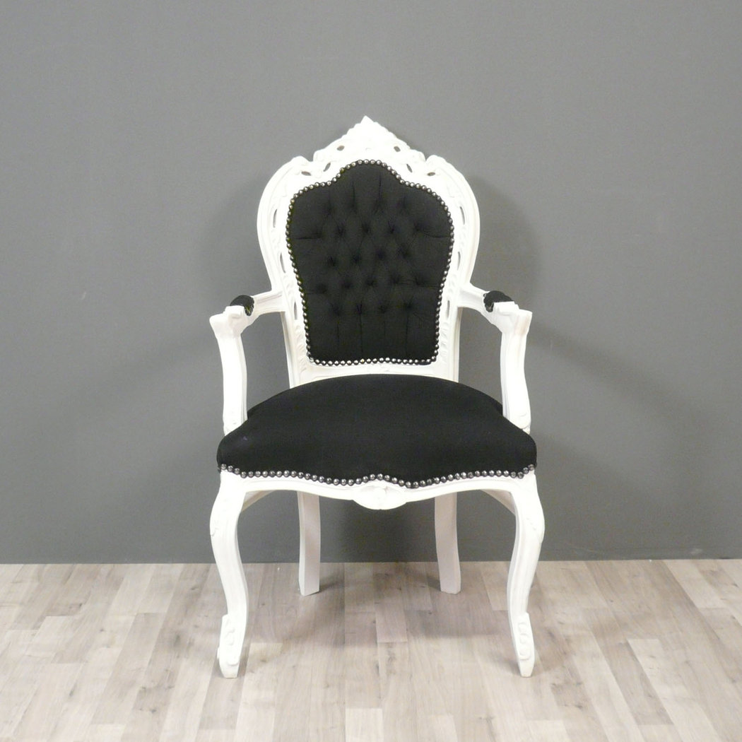 fauteuil baroque noir et blanc chaises baroques. Black Bedroom Furniture Sets. Home Design Ideas