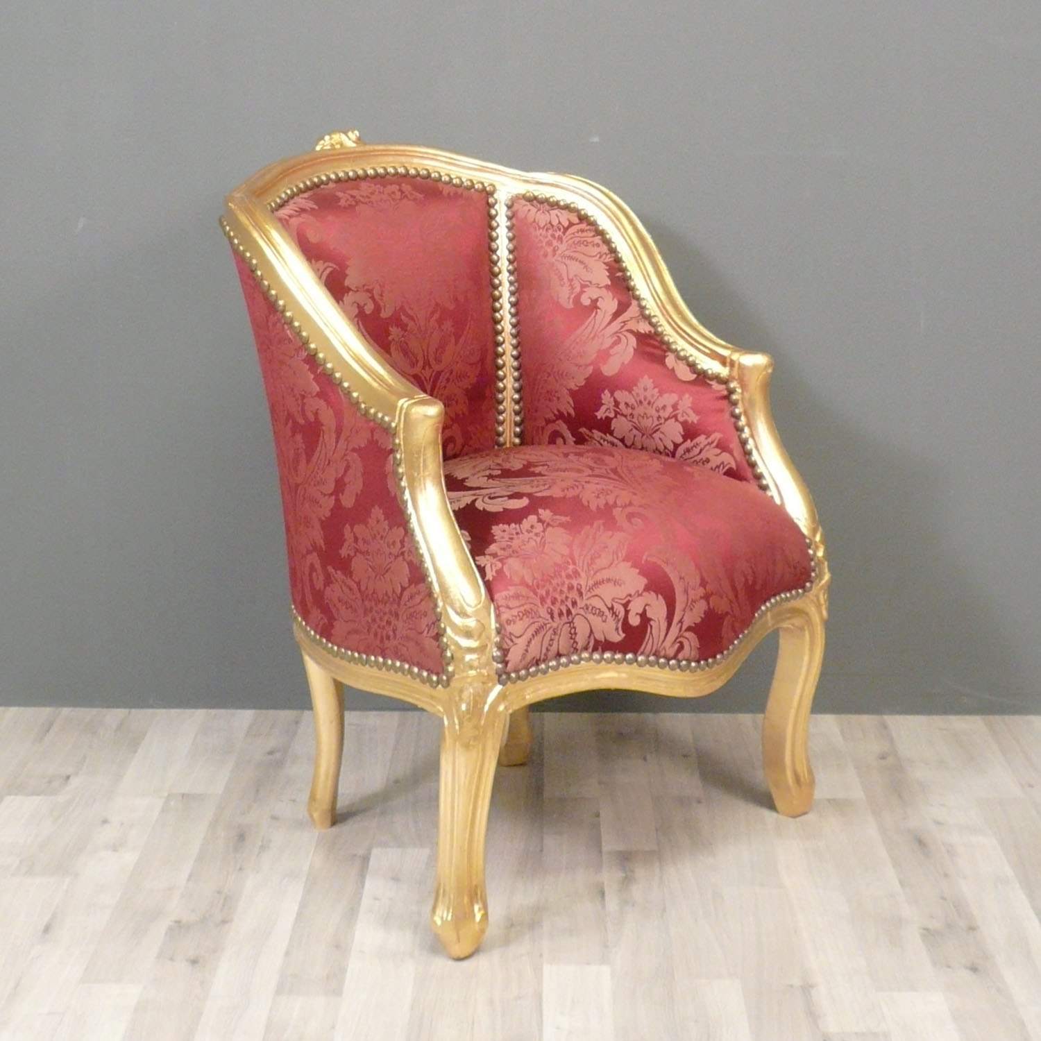 fauteuil berg re louis xv rouge meuble de style. Black Bedroom Furniture Sets. Home Design Ideas