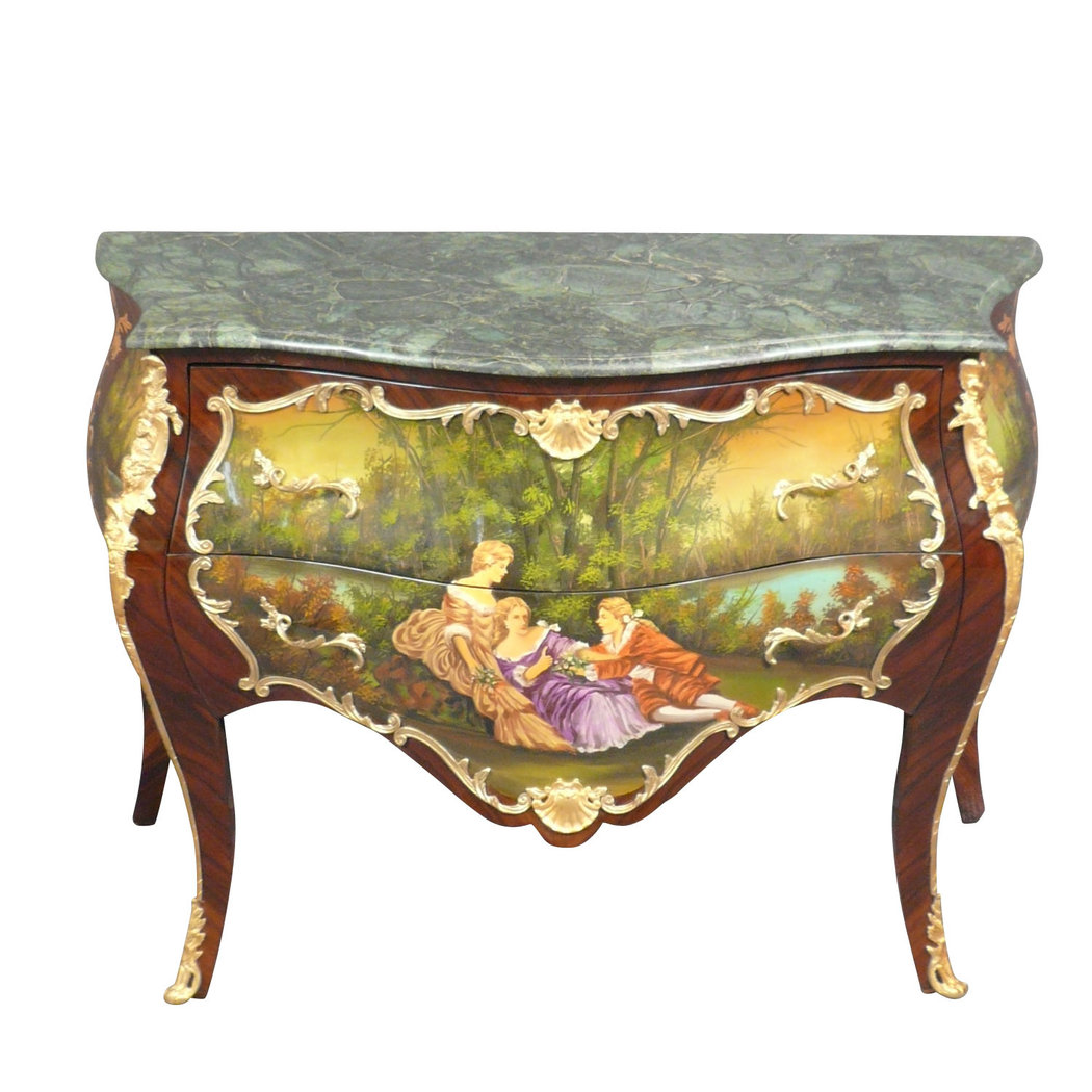 Commode louis xv peinte meubles de style louis xv for Meuble style louis 15