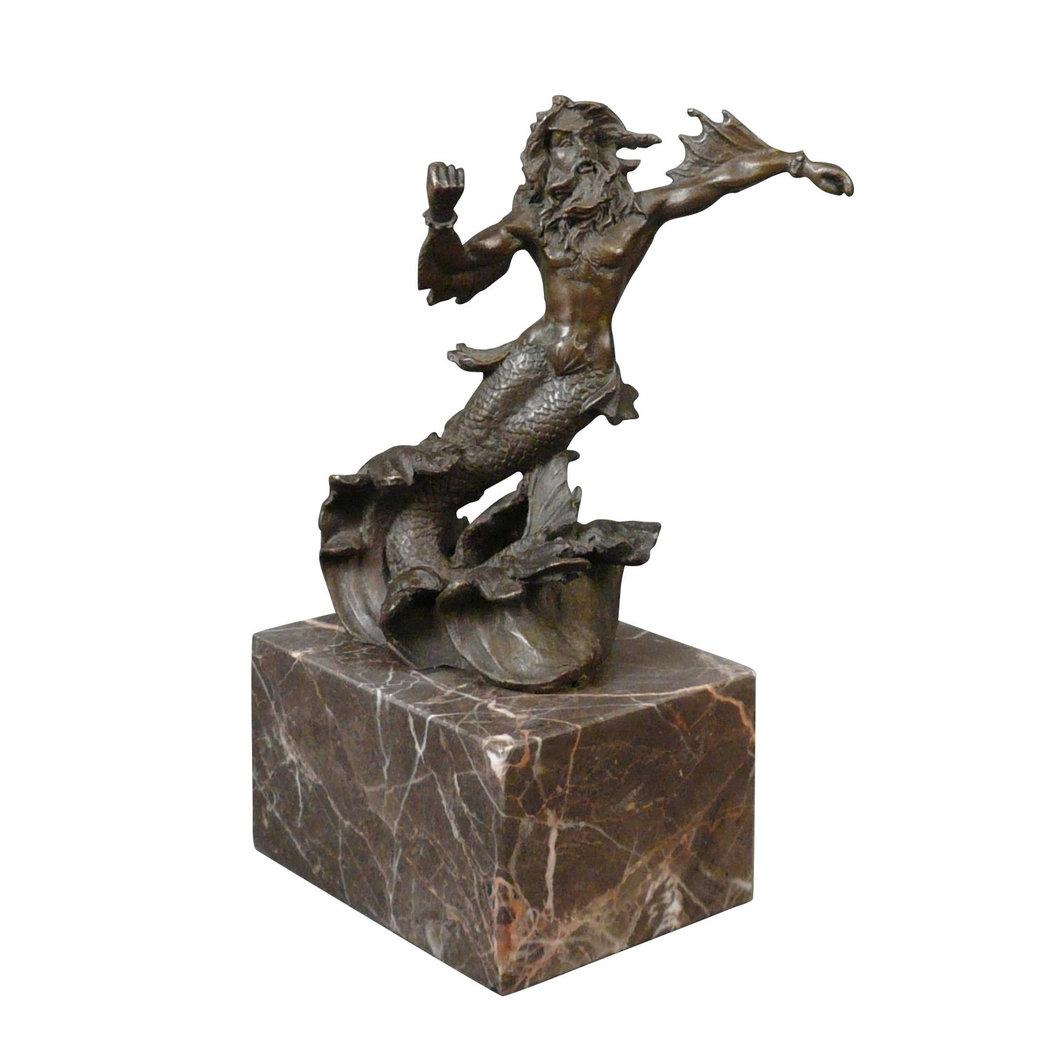 Bronze Statue Of The Greek God Neptune Tiffany Lamps