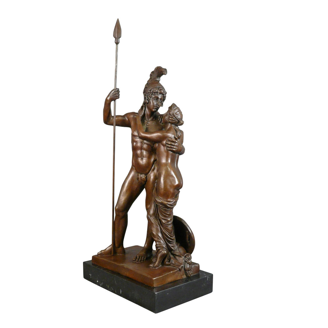 Bronze statue of Mars and Venus - Tiffany lamps - Art deco