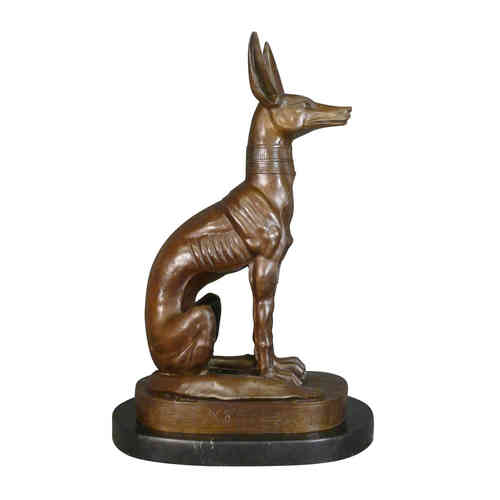 Bronze statue of the god Anubis